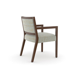 Edge Side Chair, Open Arm / Open Back | Sedie visitatori | Trinity Furniture