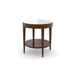 Edge Table, Round Occasional Table / Etched Tempered Glass | Mesas auxiliares | Trinity Furniture