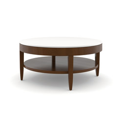 Edge Table, Round Coffee Table / Corian Face | Mesas de centro | Trinity Furniture