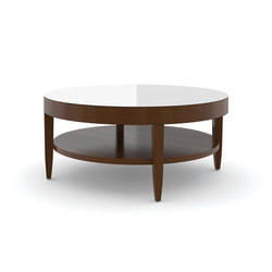 Edge Table, Round Coffee Table / Etched Tempered Glass | Lounge tables | Trinity Furniture