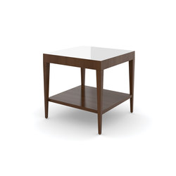 Edge Table, Square Occasional Table / Etched Tempered Glass | Mesas auxiliares | Trinity Furniture