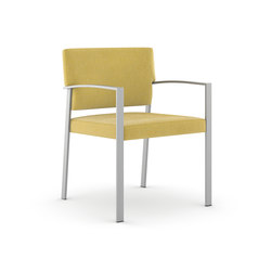 Steel Side Chair / Brushed Stainless Steel Frame | Altenpflegestühle | Trinity Furniture