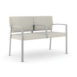 Steel Two Seater / Brushed Stainless Steel Frame | Elderly care benches | Trinity Furniture