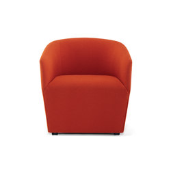 Swerve Lounge Chair / Dual Wheel Casters | Armchairs | Trinity Furniture