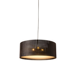 Kerflight D9 Drum Pendant Espresso | Suspended lights | Graypants