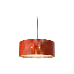 Kerflight D9 Drum Pendant Natural/Lava | Suspended lights | Graypants