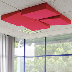 Slanting Abso acoustic Ceiling Pads | Acoustic ceiling systems | Texaa®