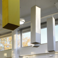 Abso acoustic totems | Sound absorbing suspended panels | Texaa®