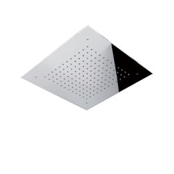 Contemporary | Concealed squared rainshower head Ø 300mm, 400mm or 500mm | Shower controls | rvb