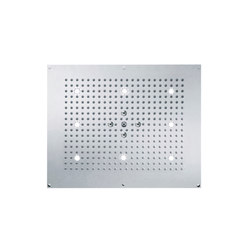Contemporary | Concealed rain shower head, 2 spray, white light | Shower controls | rvb
