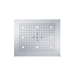 Slide | Concealed rain shower head, 2 spray, white light | Rubinetteria doccia | rvb