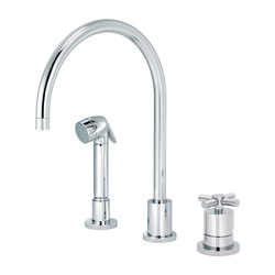 Sully | Single-lever kitchen mixer, great spout, handshower | Griferías de cocina | rvb sa-nv