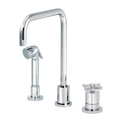 Sully | Single-lever kitchen mixer, great U spout, handshower | Griferías de cocina | rvb sa-nv