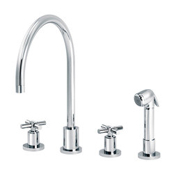 Sully | 3-hole kitchen mixer, handshower | Kitchen taps | rvb