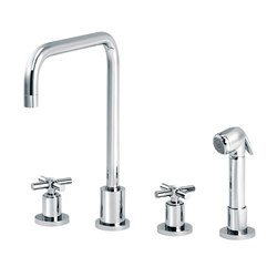 Sully | 3-hole kitchen mixer, handshower, spout in U | Kitchen taps | rvb