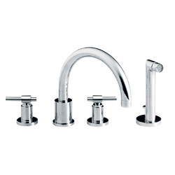 Dynamic | 4-hole bath and shower set, handshower | Bath taps | rvb