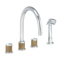 Flamant Docks | 3-hole kitchen mixer, handshower | Kitchen taps | rvb