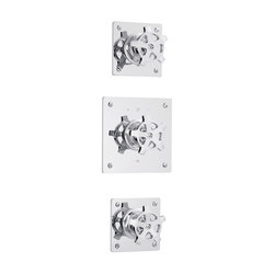 Flamant Factory | Concealed shower thermostat with 2 valves | Rubinetteria doccia | rvb