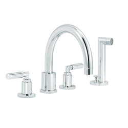Cliff | 4-hole bath and shower set, handshower | Bath taps | rvb