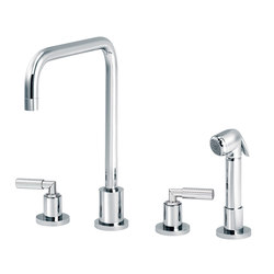 Cliff | 3-hole kitchen mixer, handshower, spout in U | Kitchen taps | rvb