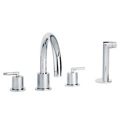 Fun | 4-hole bath and shower set, handshower | Bath taps | rvb