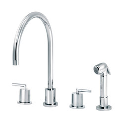 Fun | 3-hole kitchen mixer, handshower | Griferías de cocina | rvb sa-nv