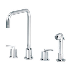 Fun | 3-hole kitchen mixer, handshower, spout in U | Kitchen taps | rvb