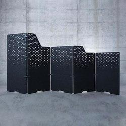 Raumakustik | Freistehende Trennelemente | Sistemi divisori stanze | Kim Stahlmöbel