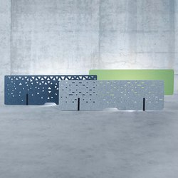 Raumakustik | Akustik Tischrückwände | Table dividers | Kim Stahlmöbel