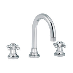 1920-1921 | 3-hole sink mixer, round spout | Wash basin taps | rvb