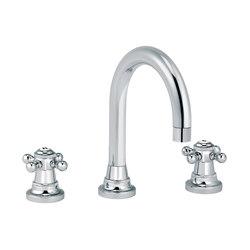 1920-1921 | 3-hole sink mixer, round spout | Wash basin taps | rvb