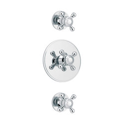 1920-1921 | Concealed shower thermostat with 2 valves | Shower controls | rvb
