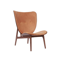 Elephant Chair, Dark Stained / Vintage Leather Cognac 21001 | Armchairs | NORR11