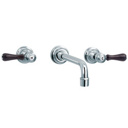1935 Wood | 3-hole wall-mounted sink mixer | Wash basin taps | rvb