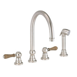 Flamant Butler | 4-hole kitchen mixer, handshower, great spout | Kitchen taps | rvb