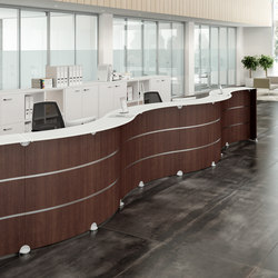 Reception Glass | Counters | Quadrifoglio Group
