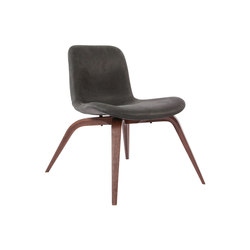 Goose Lounge Chair, Dark Stained / Vintage Leather Anthracite 21003 | Sillones | NORR11