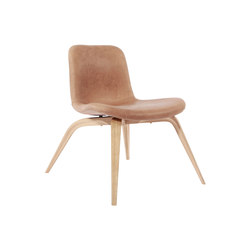 Goose Lounge Chair, Natural / Leather: Vintage Leather Camel 21004 | Fauteuils d'attente | NORR11