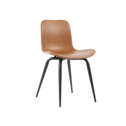 Langue Avantgarde Dining Chair, Black / Premium Leather Brandy 41574 | Chaises | NORR11