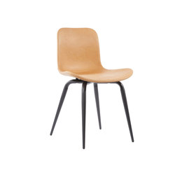 Langue Avantgarde Dining Chair, Black / Vintage Leather Cognac 21000 | Chaises | NORR11