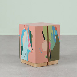 La Figura Painted Cube Table | Side tables | Pfeifer Studio