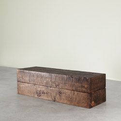 Sugar Pine Cube Bench | Waiting area benches | Pfeifer Studio