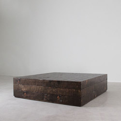 Sugar Pine Cube Table | Tables basses | Pfeifer Studio