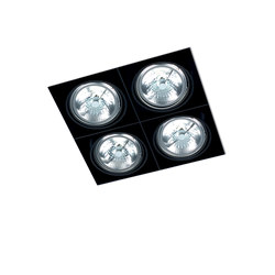 NO FRAME SQUARE 4X QR111 ≤ 100W | Recessed ceiling lights | Orbit