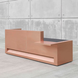 Blok Reception Desk in Copper Configuration 1 | Banques d'accueil | Isomi