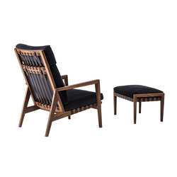 Blava | High Back Easy Chair & Ottoman | Lounge chairs con poggiapiedi | Ritzwell