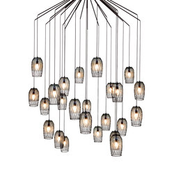 Constellation 24 Chandelier | Suspended lights | Kenneth Cobonpue
