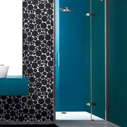 Praia Design Pivot door with fixed element for niche | Shower screens | Inda