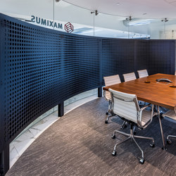Perforated Metal Room Divider in Custom Pattern (Laser Cut Morph) | Metal sheets | Moz Designs