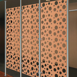 Perforated Metal Room Divider in Classic Collection Clear | Sheets | Moz Designs